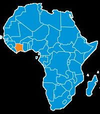 Mappa Costa D'Avorio